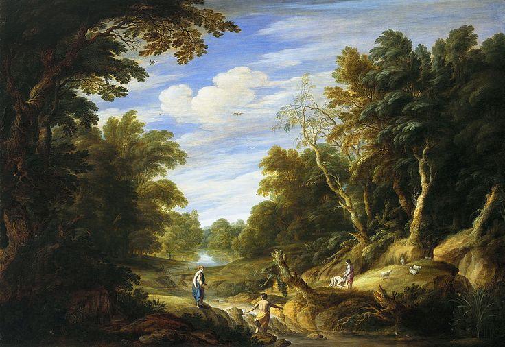 Alexander Keirincx, Лесной пейзаж с фигурами (Wooded Landscape with Figures) 1630 (ок)_64 х 92_д.,м. Гаага, Королевская галерея Маурицхёйс