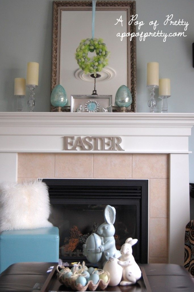 Easter Decorating Ideas Decorate A Simple Easter Mantel