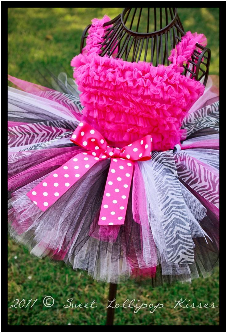 Zippy Zebra Tutu Skirt  Customize tutu size by sweetlollipopkisses, $29.99