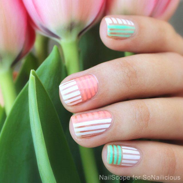 Mejores 31 imágenes de Outline glitter nails en Pinterest | Esmaltes ...
