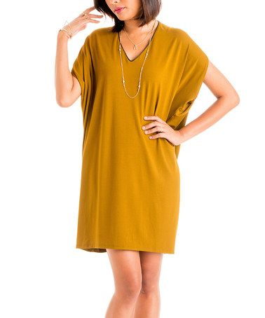 Love this Pacific Gold Maternity Cape-Sleeve Dress by fourth (love) on #zulily, $50 !!   #zulilyfinds