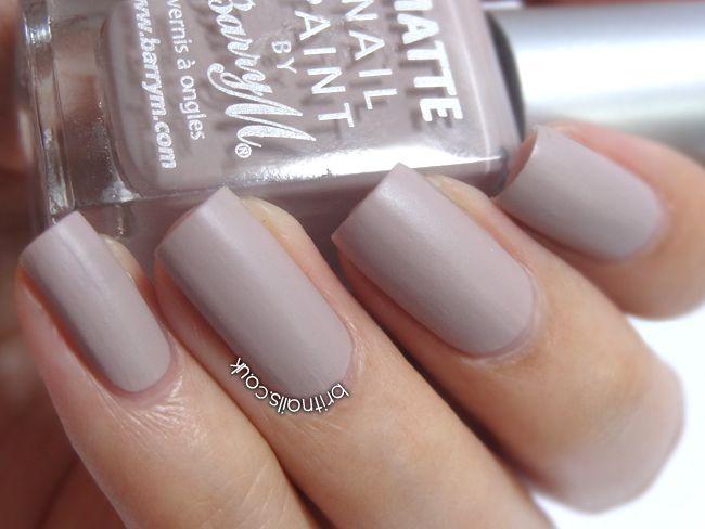 Barry M Matte Nail Paint - Vanilla
