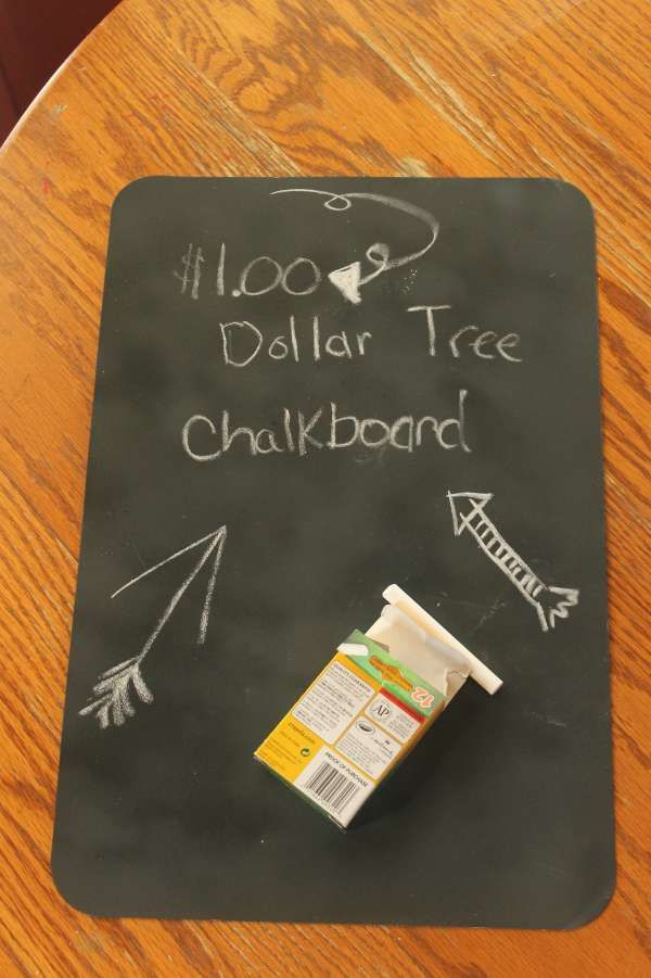 Dollar Crafts for Kids - Chalkboard Placemat :: Easy DIY Project Idea