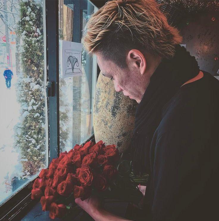 今日のYANASE #YANASE #florist #flower #ganonflorist #hananingen #hananingensapporo #design #世界一花を愛せる国にしたい