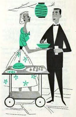 wonderful little party illustration.  Could be Don Draper and his first wife Betty.