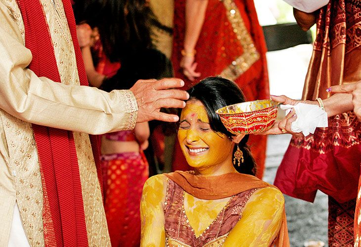 Indian wedding tradition.