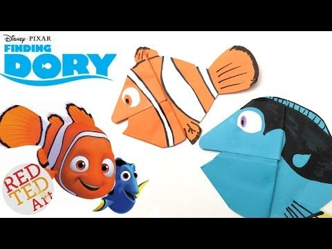 Finding Dory Bookmark - Easy Dory DIY - Paper Crafts Origami - Collab with Natasha Lee - YouTube
