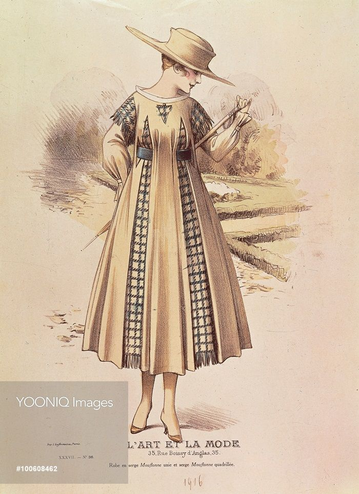 Fashion Plate Afternoon Dress