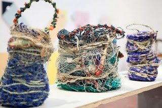 Aly De Groot (NT) GHOST NET BASKETS   Read more here at excellent website on this extraordinary project:  http://www.ghostnets.com.au/projects.html