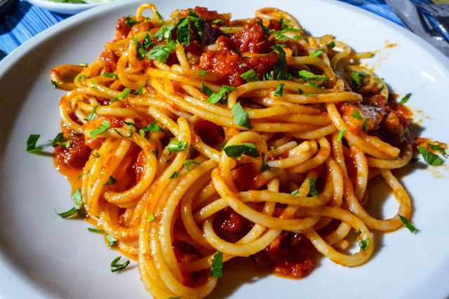 Pasta con tomate