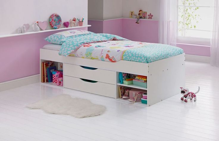 Shelby Shorty Cabin Bed Frame White