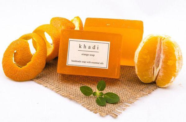 Orange Soap, by Khadi