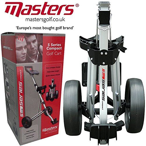 """From 49.99:""""new 2015"""" Masters 5 Series Stow A Cart Lightweight / Compact Golf Trolley"""