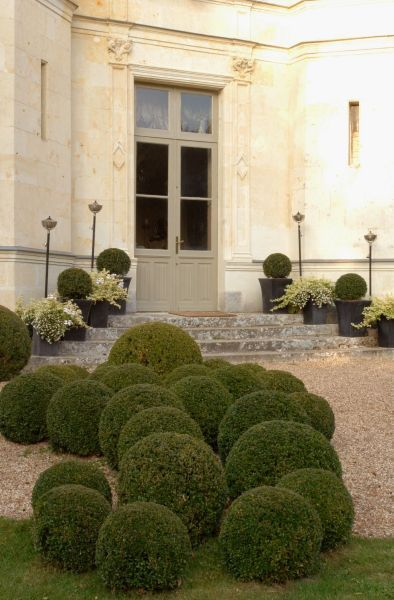 Fabulous French Chateau and Boxwood