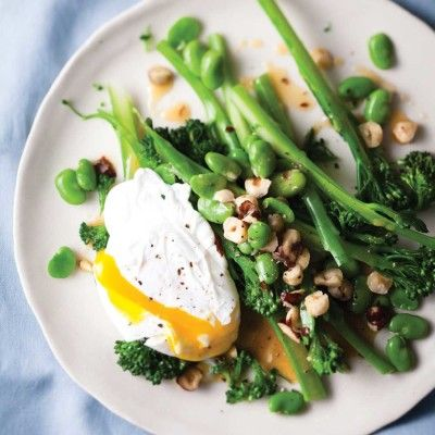 Taste Mag | Poached egg with broccoli and burnt butter @ http://taste.co.za/recipes/poached-egg-with-broccoli-and-burnt-butter/
