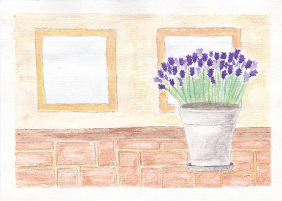 Lavender Watercolor Painting Print
