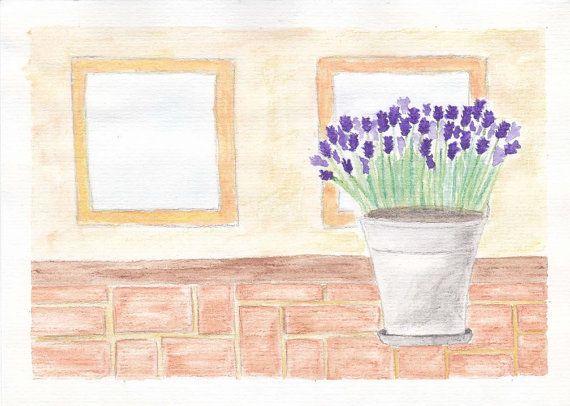 Lavender Watercolor Painting Print