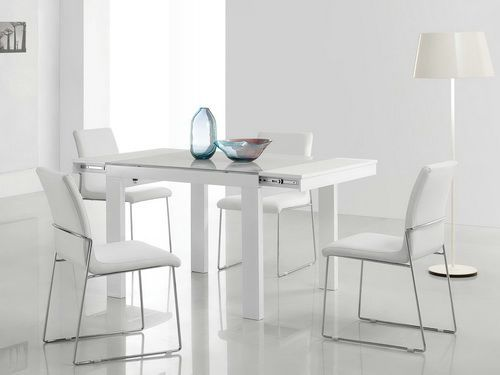 modern glass dining table extendable