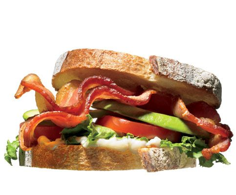 1. B.A.L.T.    Think BLT, but better. Smear sandwich bread with some mayo thinned with a bit of lemon juice. Layer on a couple of pieces of good bacon—cooked not too crisp—avocado, lettuce, and tomato.