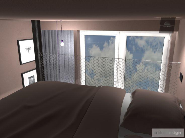 Ložnice s pracovnou a se zvýšeným spaním. Olomouc   očkodesign