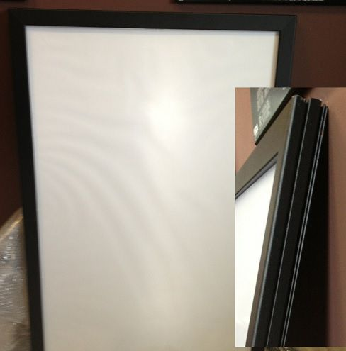 htd canada led poster frame 27 x 40 this new led system makes displaying any of your movie posters in style easy easy load snap poster system an