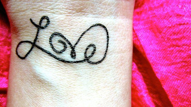 DIY temporäre Tätowierung – Liebe, #DIY #diytattootemporarygelpens #Love #Tattoo #temporary, …  – DIY Tattoo Vorübergehend Blog