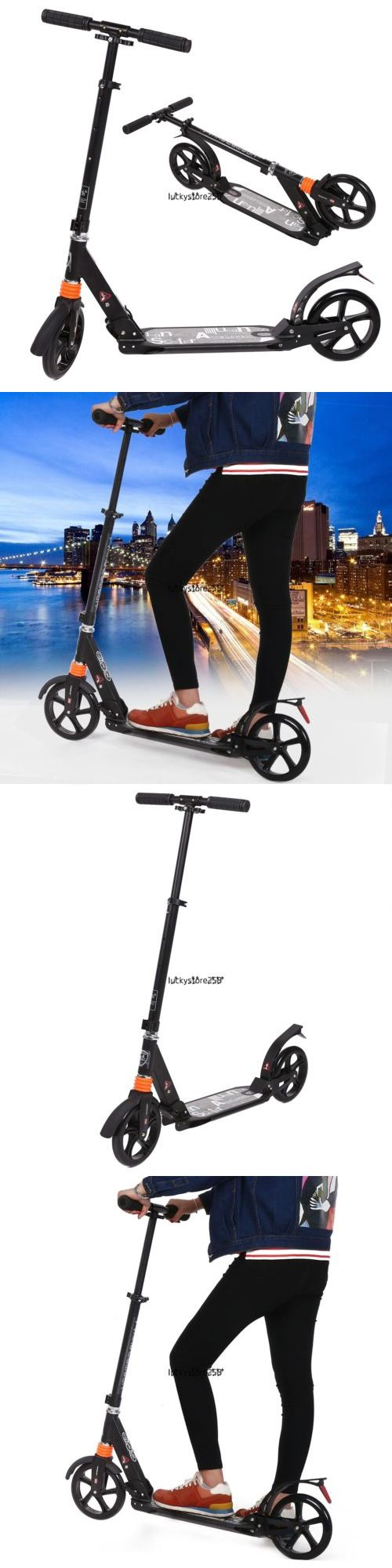 Kick Scooters 11331: 35-39 Adjustable Sturdy Adult Folding Kick Scooter Aluminum Alloy Big Wheel Lkr8 -> BUY IT NOW ONLY: $57.99 on eBay!