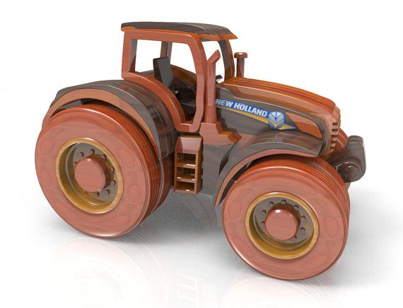 Tractor T8 by Lloydswoodtoyplans on Etsy