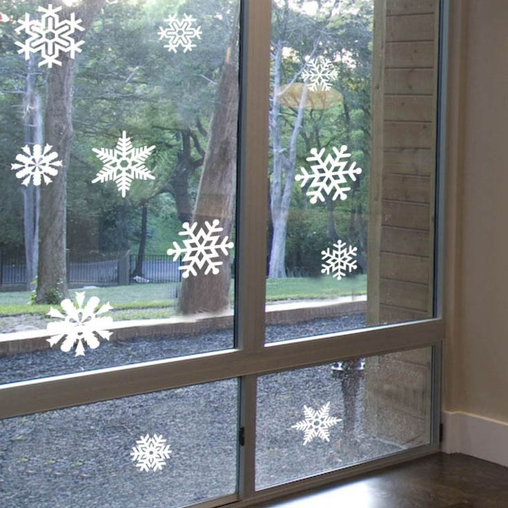 Flying winter christmas glass doors window decoration wall stickers 4067 29