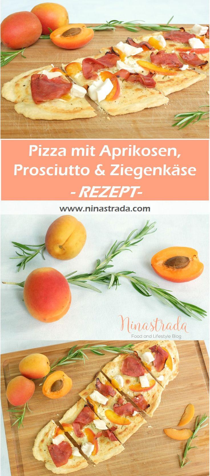 Ein einfaches und schnelles Rezept für den Sommer: http://ninastrada.com/pizza-bianca/ Süße Aprikosen kombiniert mit salzigem Prosciutto, Ziegenkäse und Rosmarin.