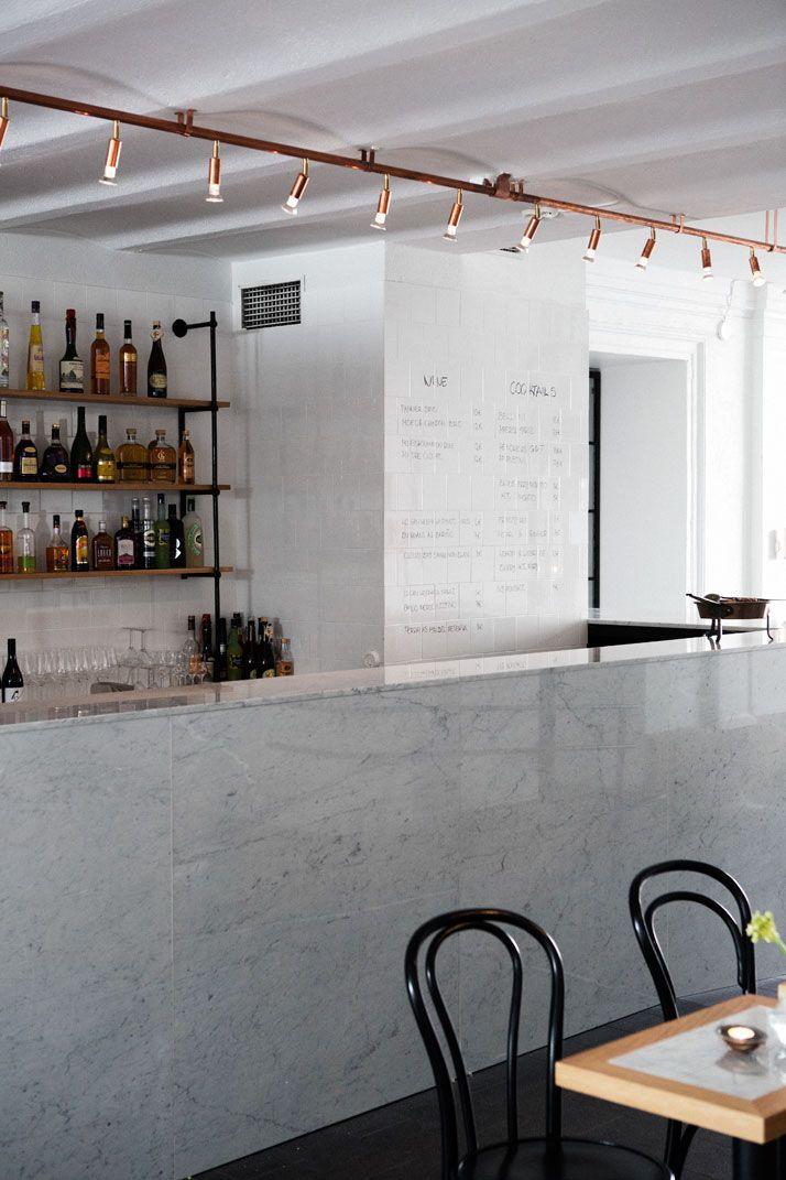 Blanco, negro, cobre, anticeptico, cool  Bar & Co by Joanna Laajisto In Helsinki, Finland | Yatzer