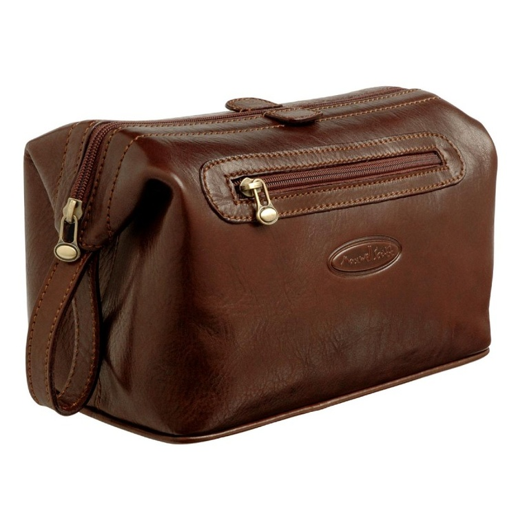 Brown Large Toiletry Bags (DunoL) Men's wash bag. For Frank!!