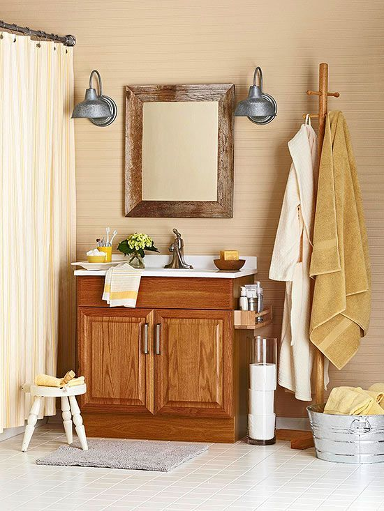 The Art Gallery  Ideas Update Oak Cabinets WITHOUT a Drop of Paint Bathroom Counter DecorOak