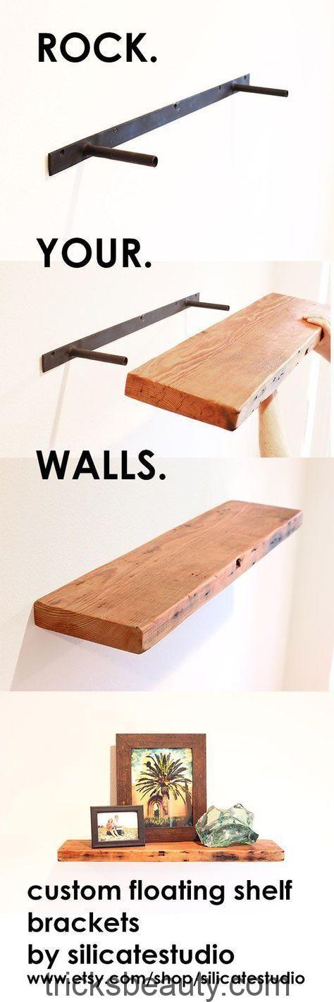 Machen Sie jede Holzplatte zu einem schwebenden Regal mit einem robusten und unsichtbaren