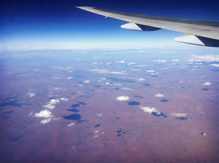 Flying over the desert in Australia