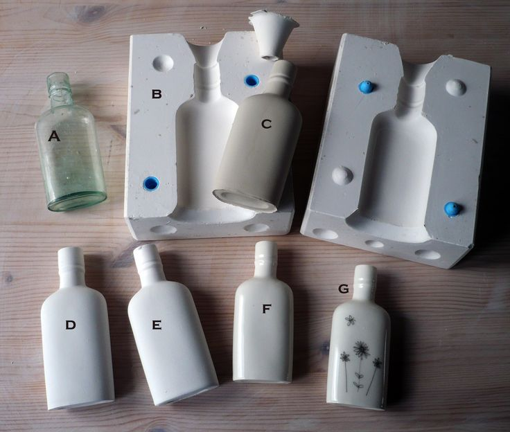 From vintage glass bottle to slipcast porcelain bottle with my meadow illustrations fired into the glaze... www.boopdesign.com