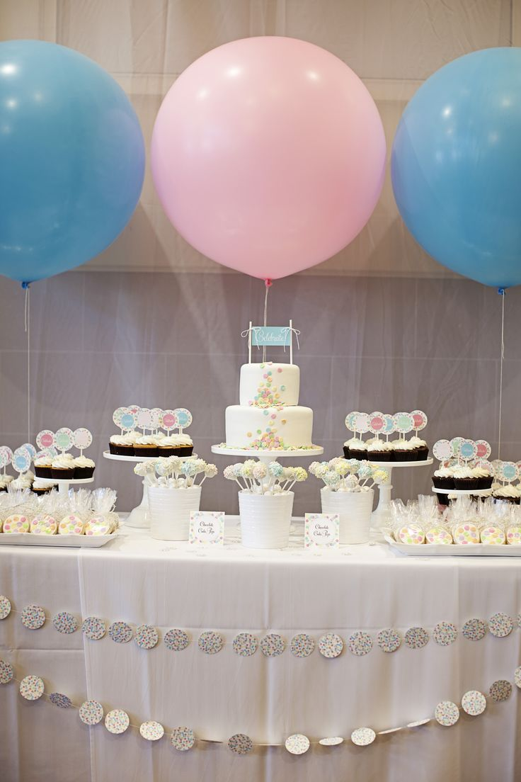 Super Cute Party Table featuring Pastel Colored Dots