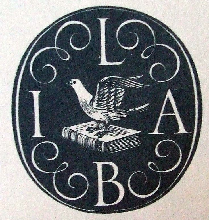 REYNOLDS STONE wood engraving. Book label. Designed for the International League of Antiquarian Booksellers. c.1950