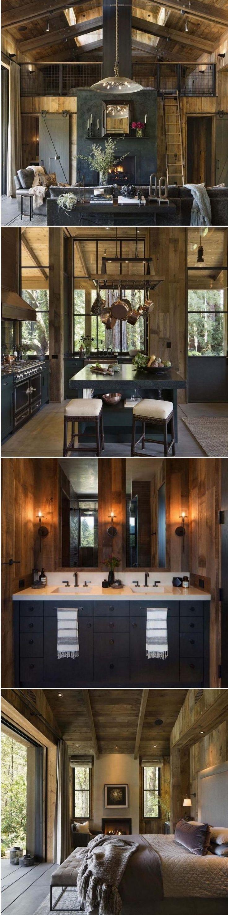 30+ Cool Cabin Style Design Ideas