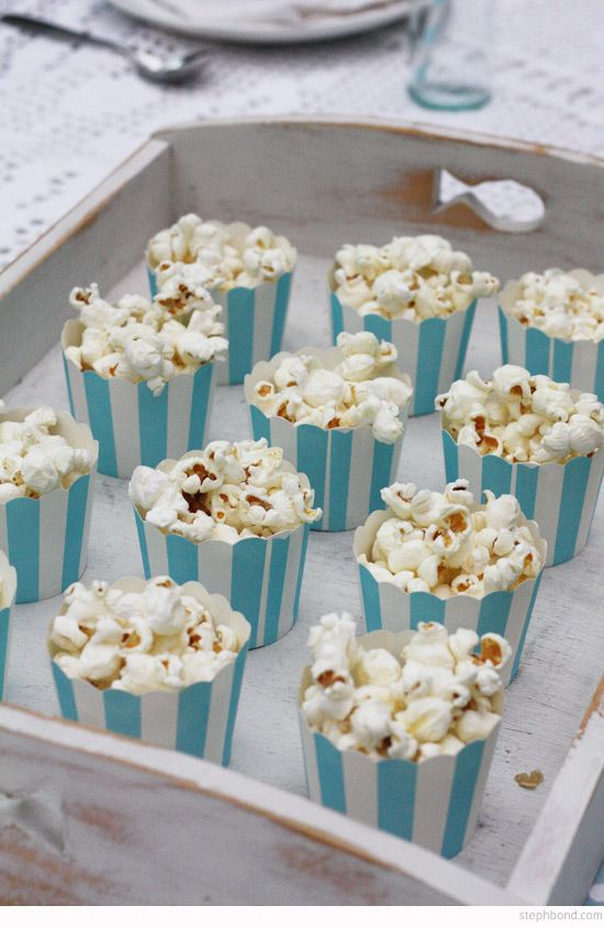 Bondville: Our 6th Birthday Mermaid Tea Party - popcorn