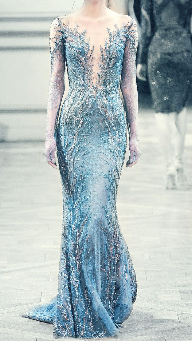 When I become a magnificent ice queen,  I'm so wearing this.  Elsa,  watch your back. [ 21 Breathtaking Couture Gowns Fit For An Ice Queen