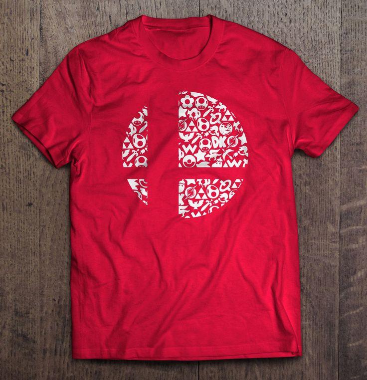 Super Smash Bros Logo Mash T Shirt