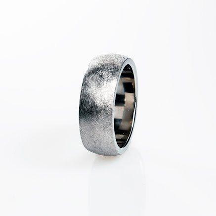 Spectacular Titanium ring Scratched Titanium Men Mens wedding band Wedding band