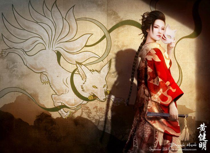 ۞ ADM Sleipnir          Tamamo-no-Mae  ( 玉  藻  前 ) é uma figura lendária da mitologia japonesa. No Otogizoshi, uma coleção de prosa japone...