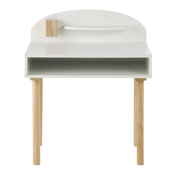 Wit houten kinderbureau L 70 cm - Nuage