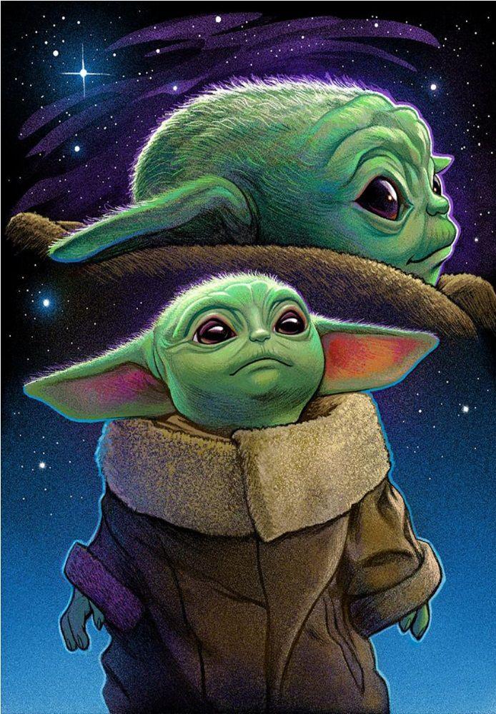 Baby Yoda Star wars poster, Yoda art, Yoda wallpaper