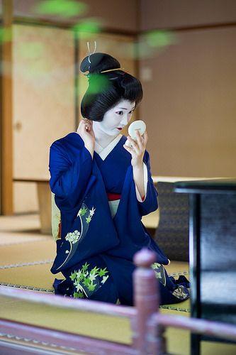 """oiran-geisha: """" The geiko Chizu of Pontocho. (Source) """""""