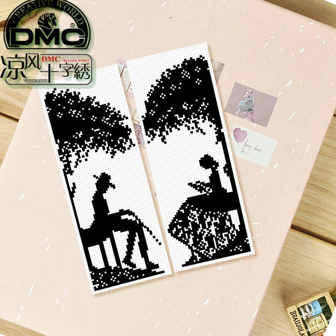 FOR 18CT Dmc spiraea cross stitch bookmark lovers solid color.