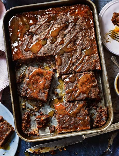 Sticky toffee pudding traybake - YES PLEASE.