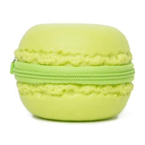 Green Macaron Coin Purse